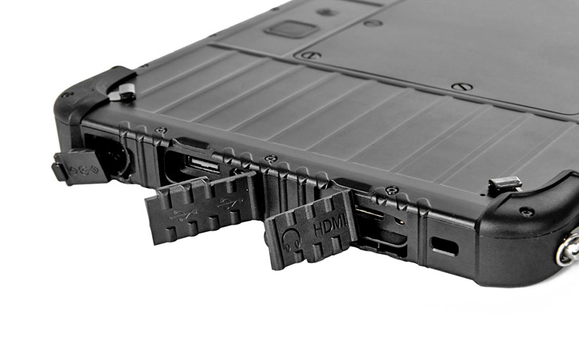 SCORPION 10 PLUS: Connectors and slots on the right side