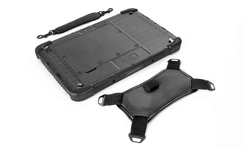 SCORPION 10 PLUS: Tablet with hand strap and carrying strap